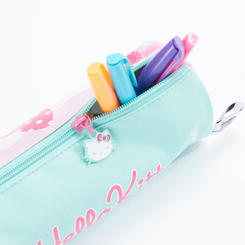 Hello Kitty Round Pencil Case with Zip Closure