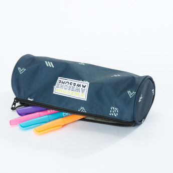 Awesome Printed Pencil Case with Zip Closure
