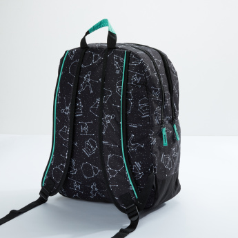 Star Wars Printed Backpack with Zip Closure