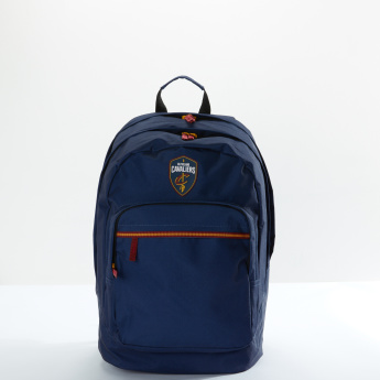 NBA Textured Backpack with Zip Closure and Adjustable Straps