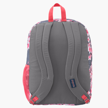 Jansport Floral Printed Backpack with Zip Closure
