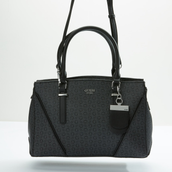 Guess Textured Handbag with Zip Closure and Adjustable Strap