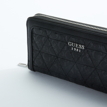 Guess Quilted Wallet with Zip Closure