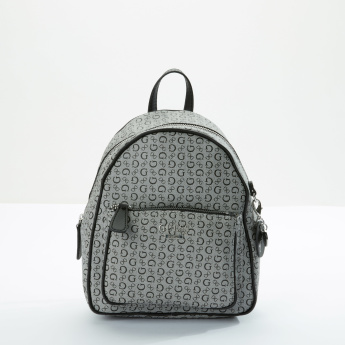 Guess Printed Backpack with Zip Closure