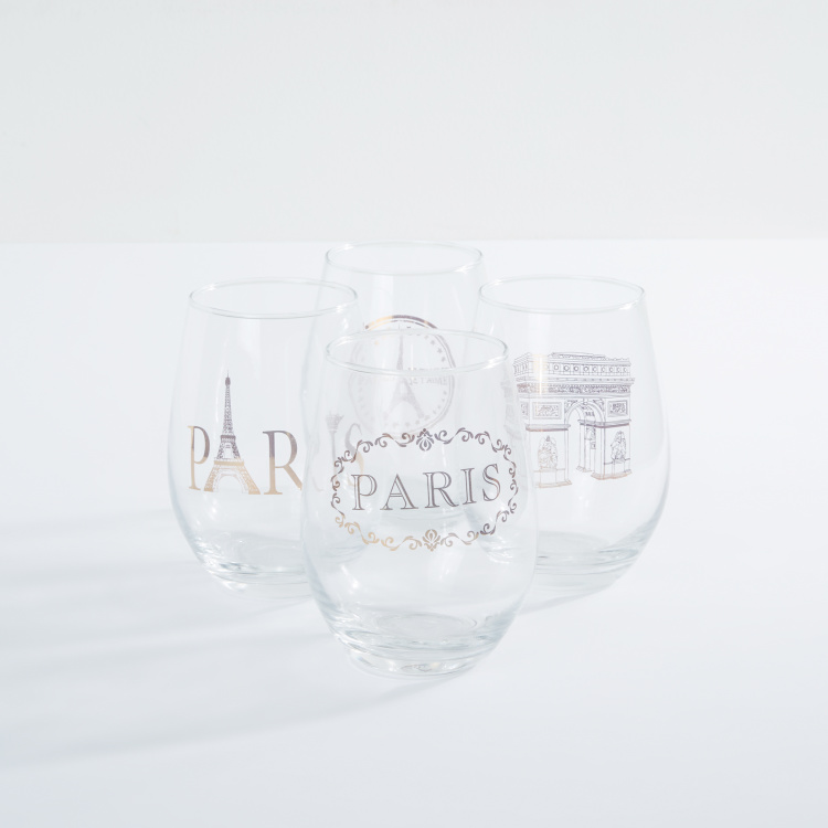 Circleware Printed Stemless Glass - Set of 4