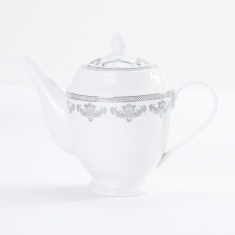 Silver Royal Printed Teapot