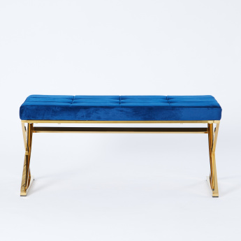 Stella Armless Bench with Tufted Seat