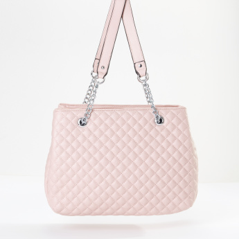 Sasha Quilted Tote Bag with Twin Handles