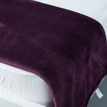 Plush Rectangular Bed Throw - 180x150 cms