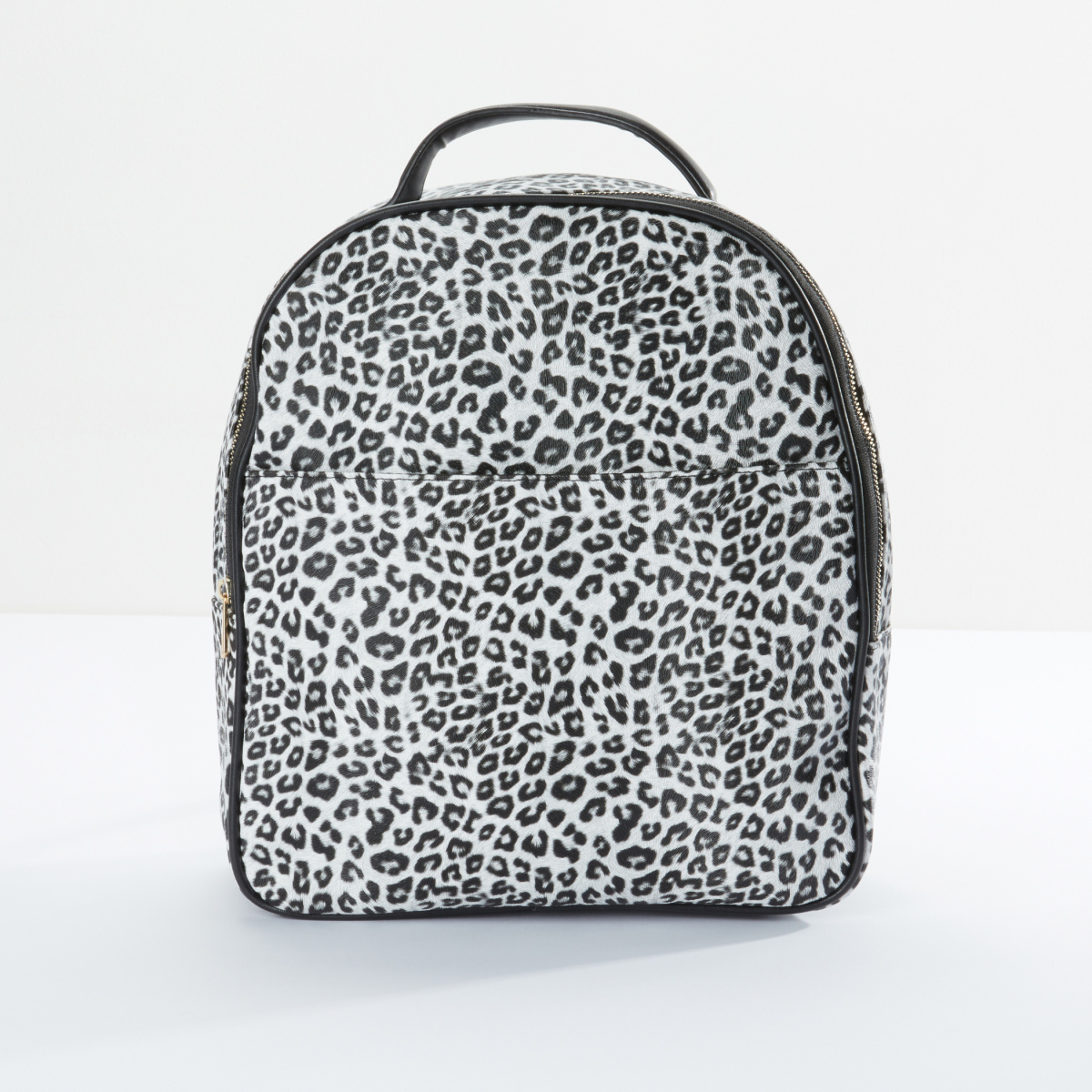 Leopard Printed Backpack with Zip Closure and Adjustable Straps