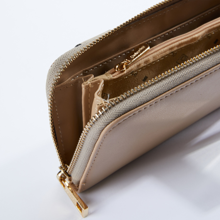 Charlotte Reid Panel Detail Wallet with Zip Closure