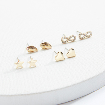 Sasha Assorted Earrings with Push Back Closure - Set of 4