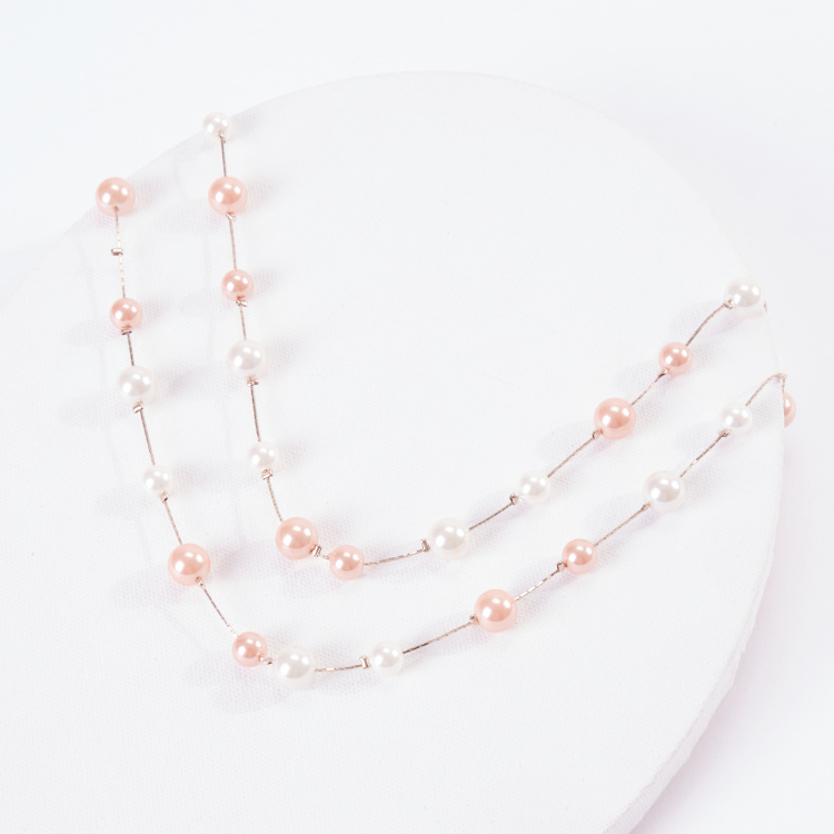 Sasha Pearl Necklace with Lobster Clasp