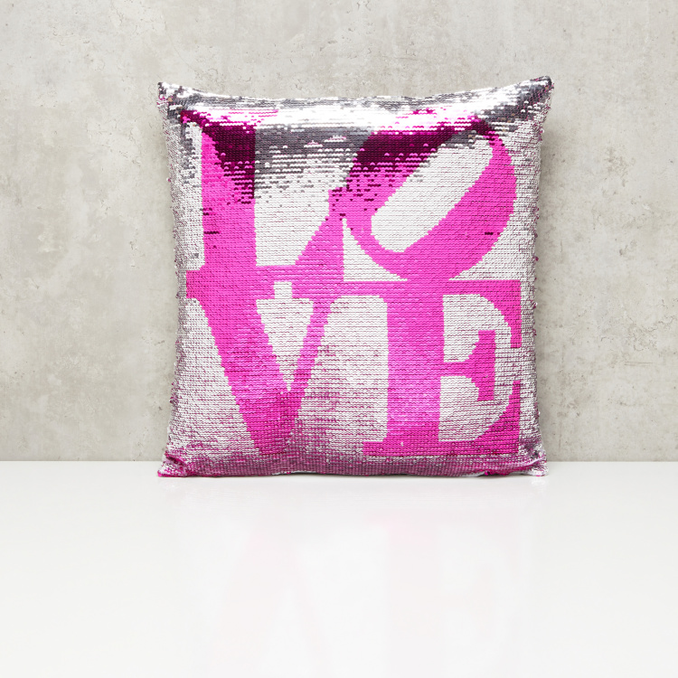 Sequin Detail Filled Cushion - 45x45 cms
