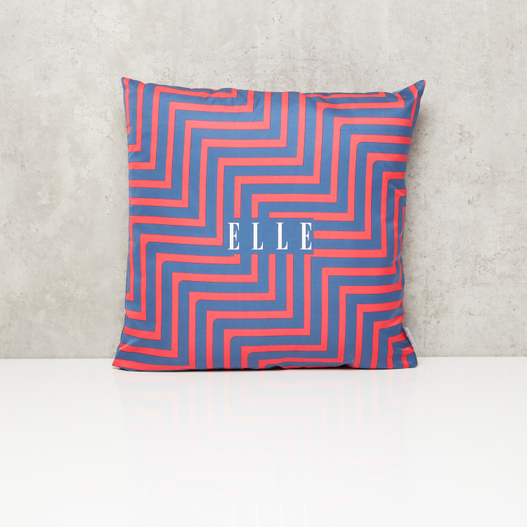 ELLE Printed Filled Cushion - 45x45 cms
