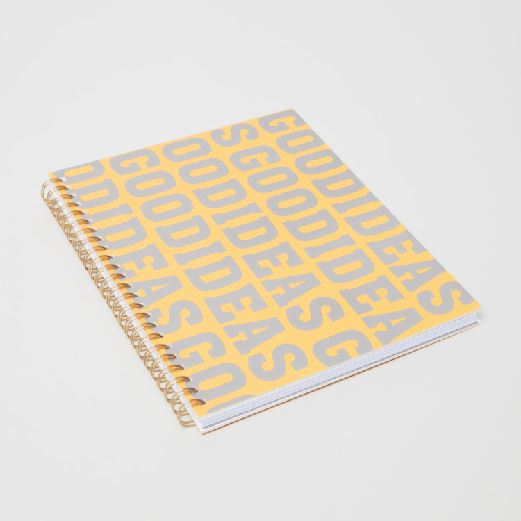 Syloon Good Idea Printed A5 Single Ruled Spiral Notebook