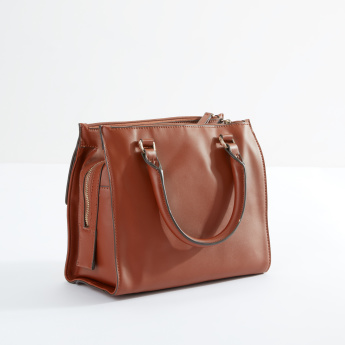 Fiorelli Stitch Detail Handbag with Zip Closure and Twin Handles