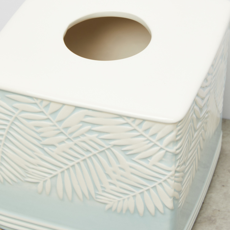 Ash Leaf Textured Tissue Holder