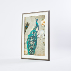 Peacock Printed Picture Frame