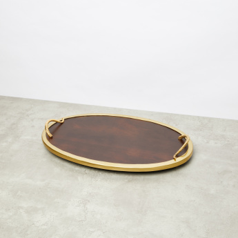 Decorative Oval Tray with Handles