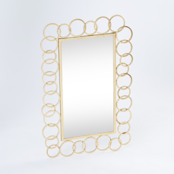 Montage Metallic Loop Detail Wall Mirror