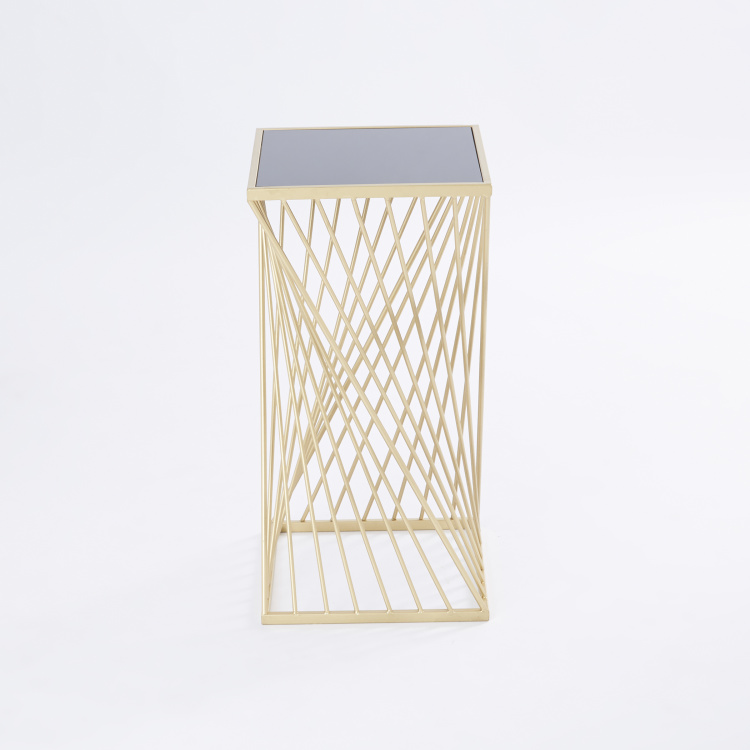 Metallic Accent Table
