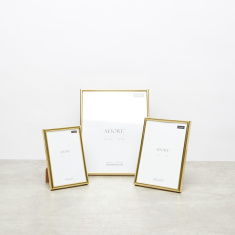 Gold Framed Rectangular Frame - Set of 3