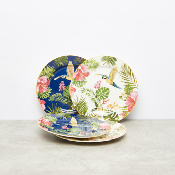 Floral Printed Tropical Paradise Side Plate - Set of 4
