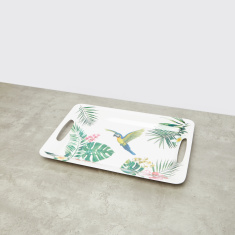 Tropical Paradise Printed Serving Tray with Cutout Handles
