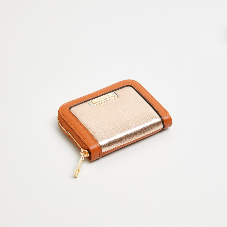Charlotte Reid Small Zip Around Wallet with Colour Block Detail