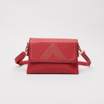 Sasha Stud Detailed Satchel Crossbody Bag