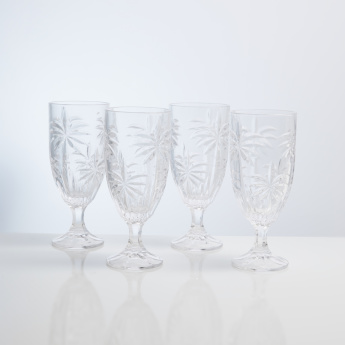 Godinger Palm Iced Tea Glass - Set of 4
