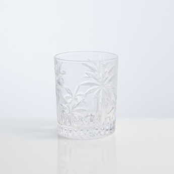 Godinger Palm Textured Glass - Set of 4