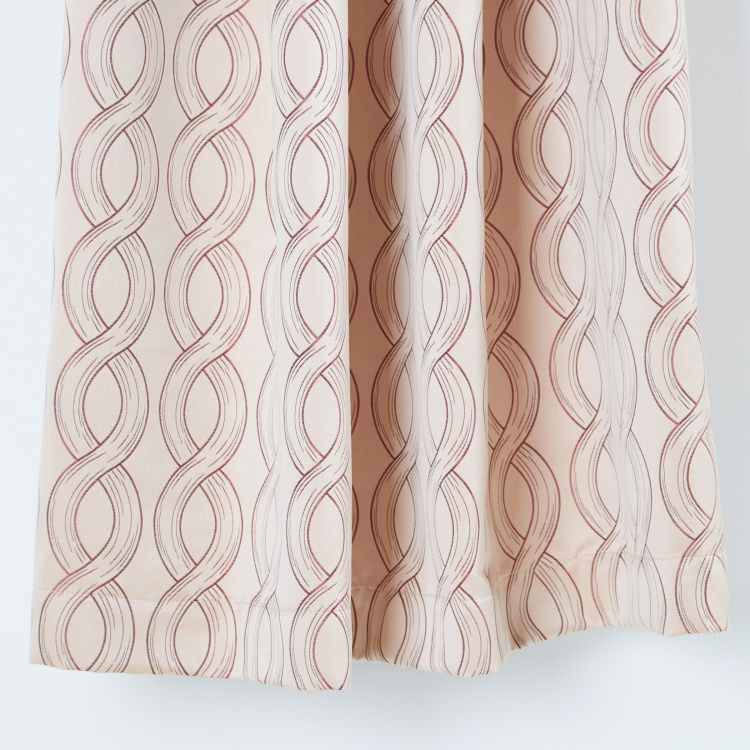 Dexter Printed Curtain Pair with Lining - 135x240 cms