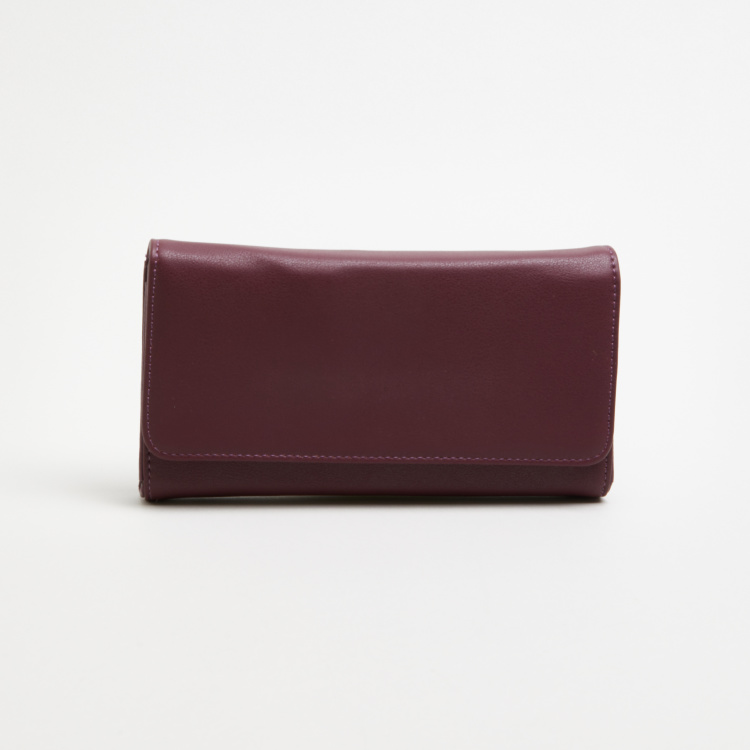 Sasha Stitch Detail Wallet with Magnetic Snap Closure