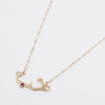 Sasha Studded Arabic Love February Pendant Necklace