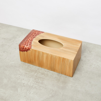 Bamboo Rock Printed Tissue Holder with Cutout Detail