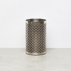 Metallic Bath Tumbler with Cutouts