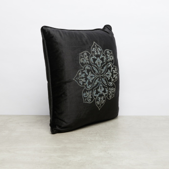 Lizbeth Embellished Filled Cushion - 45x45 cms