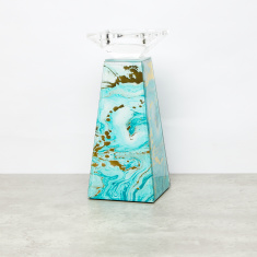 Printed Pillar Candle Holder - Small