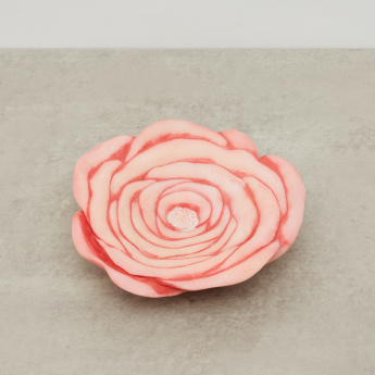 Rose-Shaped Circular Soap Dish