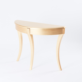 Console Table with Metallic Finish - 107x40x83 cms