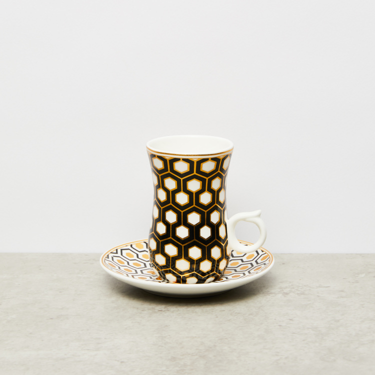 Printed 12-Piece Coffee Cup and Saucer Set