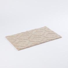 Drylon Textured Rectangular Bath Rug - 50x80 cms