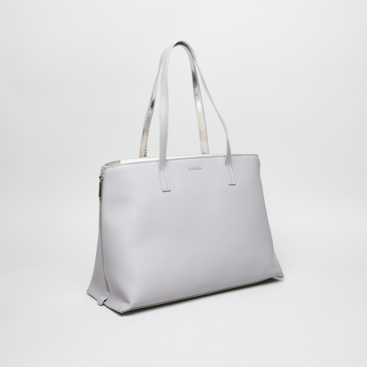 Fiorelli Logo Detail Shopper Bag with Zip Closure