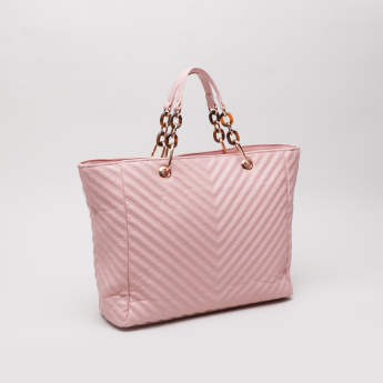 Sasha Quilted Tote Bag with Handles