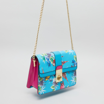 Charlotte Reid Printed Satchel Bag with Twist Lock