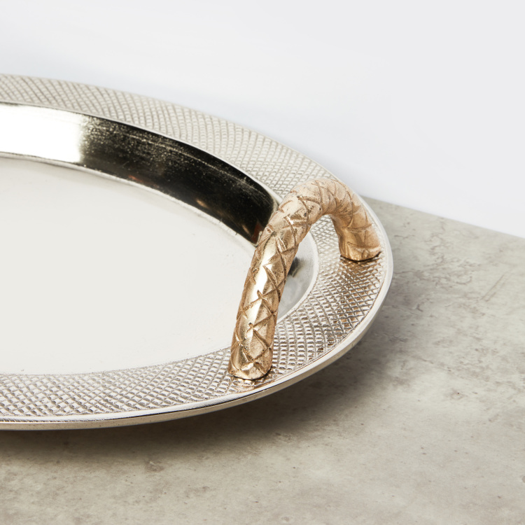 Oval Tray with Handles - 47x34 cms