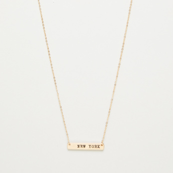 Sentiments Famous Place Bar Necklace
