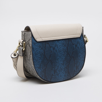 Charlotte Reid Crossbody Animal Print Satchel Bag